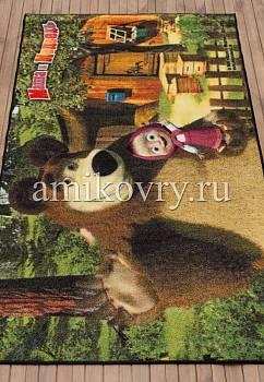 турецкий детский ковер Маша и Медведь D3MM008-mix