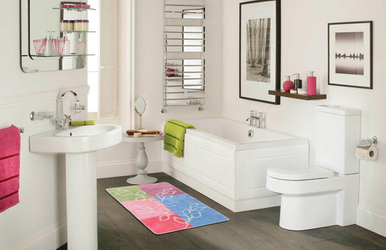 Акриловый коврик для ванной Confetti bath Lagina 20 Baby Pink