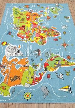 турецкий детский ковер Disney Map D3VN001-mix