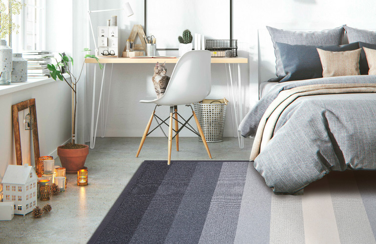 Ковер в скандинавском стиле Smart Weave 9008-Carbon