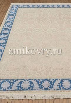 классический ковер ручной работы Numan K-10-Ivory/Blue