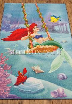 турецкий детский ковер Disney Princess D3PR004-blue