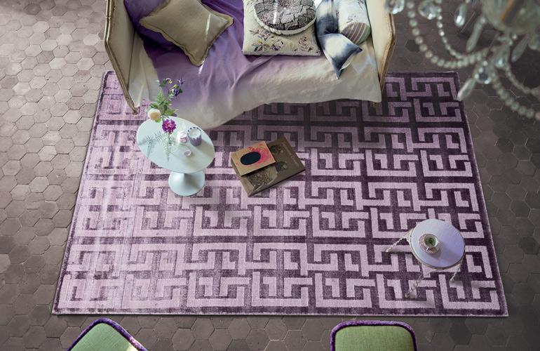 Сиреневый ковер из вискозы Tasvira TC-H-10-Purple