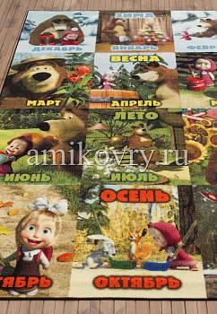 турецкий детский ковер Маша и Медведь D3MM006-mix