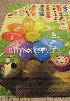 турецкий детский ковер Маша и Медведь D3MM003-mix