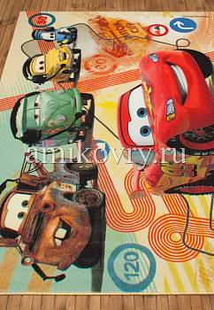 турецкий детский ковер Disney Cars D3CR003-yellow