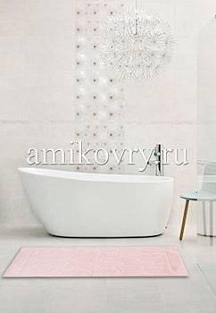 коврик для ванной в интерьере Cotton Tas Desen 2-Pink