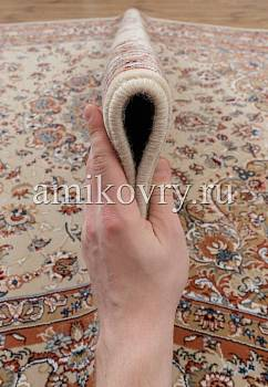 фактура ковра Mashad wool Brilliant Nain 5.75303-cream