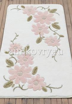 коврик для ванной в перспективе Confetti bath Margherita 02 White