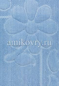 фрагмент коврика для ванной Sonil Cotton SCTN 10-Blue