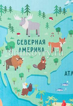 фрагмент ковра Matlig 0332 Карта мира