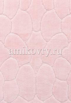 фрагмент коврика для ванной Cotton Tas Desen 2-Pink