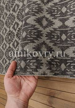 фактура безворсового ковра JC International JHC-09 light grey-dark grey ikkat