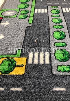 дефект ковра Playmat двухсторонний DUO City Grey+Farm discount12