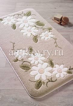 коврик для ванной в интерьере Confetti bath Margherita 01 Beige