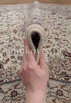 фактура ковра Mashad wool Brilliant Nain B.75682-white