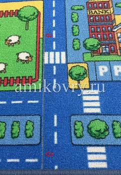 дефект ковра Playmat Blue City discount3