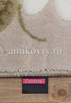 фрагмент коврика для ванной Confetti bath Margherita 01 Beige