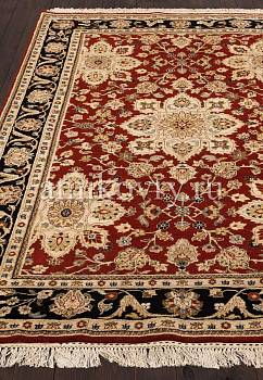 ковер в перспективе против ворса Kashan wool 10/14 JB-1405-Red/Ebony