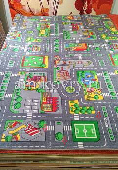 дефект ковра Playmat DUO City Grey+Farm discount13