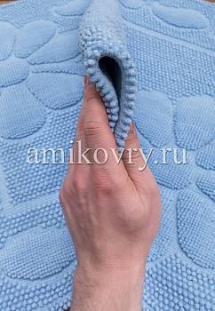 фактура коврика для ванной Sonil Cotton SCTN 10-Blue