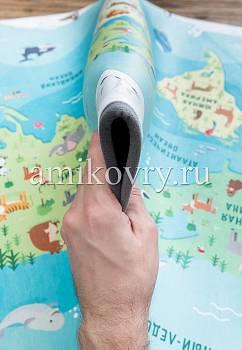 фактура ковра Matlig 0332 Карта мира