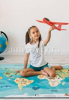 игровой коврик в интерьере Matlig 0332 Карта мира