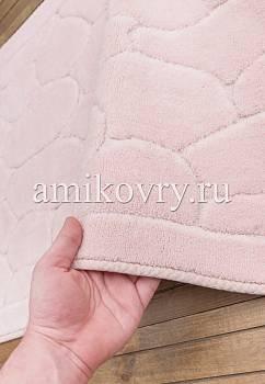 фактура коврика для ванной Cotton Tas Desen 2-Pink